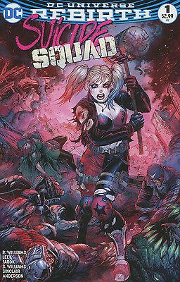Suicide Squad #1 Vol 4 Rebirth Kirkham Midtown Color Variant (Dc Comics 2016)