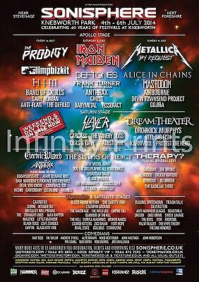 Sonisphere 2014 Music Festival Poster A A3 A4