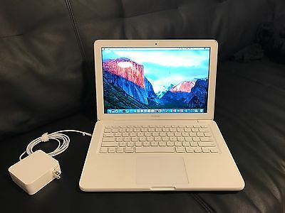 "Apple MacBook White 13"" A1342 250GB HDD/4GB Ram//OS X Sierra 2016/ Fast Shipping"