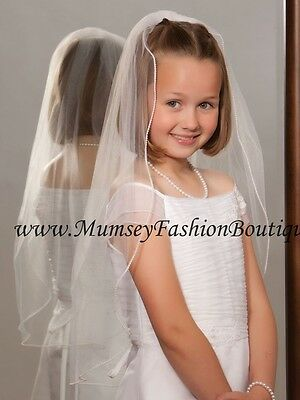 FIRST COMMUNION FLOWER GIRL VEILS Style Number: M-251-P