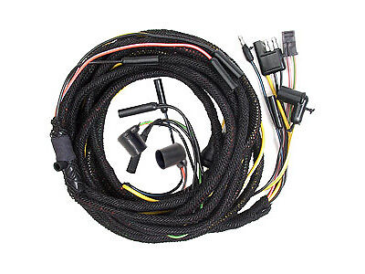 64�-early 65 mustang tail light wiring harness w/ tail light plugs, cp