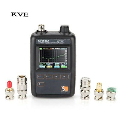 KVE520A Vector Impedance Antenna Analyzer with Multiple Adapters Graphic Display