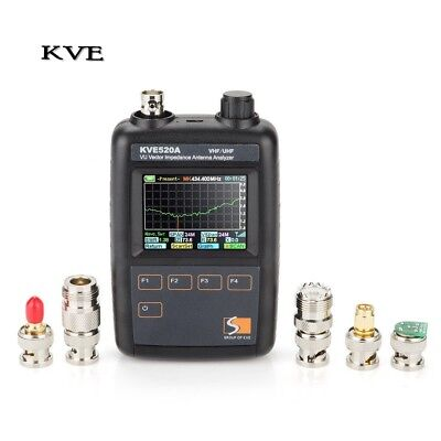 Vector Impedance Antenna Analyzer with Multiple Adapters KVE520A Color Graphic