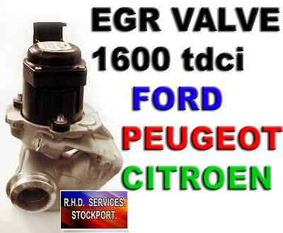 Peugeot Partner 206 307 Egr Valve Exhaust Gas Recirculation 1.6Hdi Genuine Valeo
