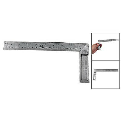 Hot Sale 102.4g 90 Degree 25cm Length Stainless Steel L-Square Angle Ruler T1