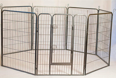 """Iconic Pet - Heavy Duty Metal  Pet Dog Exercise and Training Playpen - 24"""" H"""