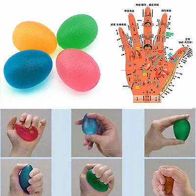 Soft Egg Stressball Hand Finger Exercise Therapy Stress Squeeze Relief Ball