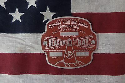 Federal Sign and Signal Model 175 Beacon Ray Replacement Badge