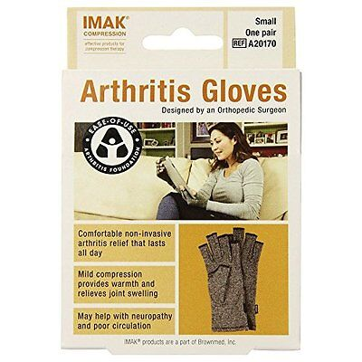 Brownmed Imak Compression Arthritis Gloves, XS, 2 Count