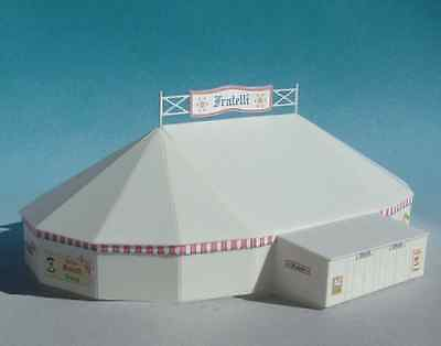 Luetke 73228 Z Scale Oval Big Top Circus Tent Scenery Kit *NEW