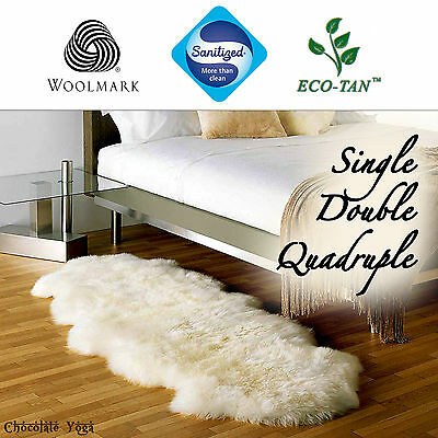 New Ultra Fleece Sheepskin Rug Genuine Eco-Tan Sanitized Australian Lambskin