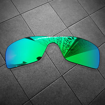 RAWD Jade Green Mirrored Replacement Lenses for-Oakley Batwolf POLARIZED