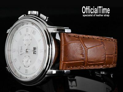 OfficialTime 22/18mm Calf Leather Strap / Band fit Zenith watch 45mm