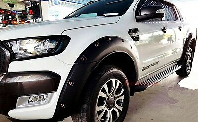 """Ford Ranger T6 Minor Change MK2 2015 2016 Fender Flare Wheel Arch 6"""" With NUTS R"""