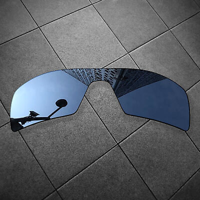 RAWD Black Iridium Mirrored Replacement Lenses for-Oakley Oil Rig POLARIZED