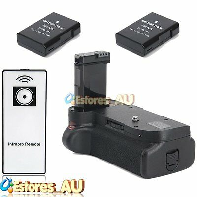 【AU】Vertical Battery Hand Grip + 2x EN-EL14 Battery For Nikon D5200 D5100 Camera