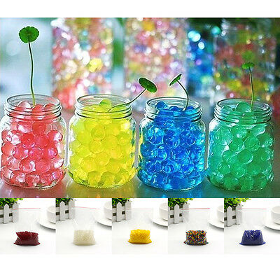 500pcs Water Plant Flower Jelly Crystal Soil Mud Hydro Gel Pearls Beads Ball Hot