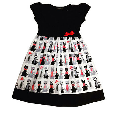 Cats With Moustaches Baby Dress, Goth, Punk, Alternative, Funky All Baby Sizes