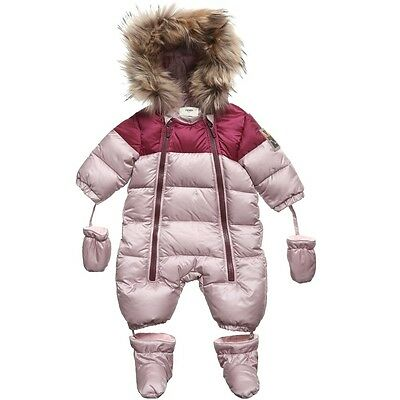 Fendi Baby Pink Down Padded Snowsuit 24 Months