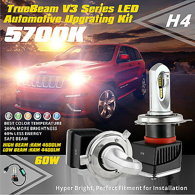 SLDX Led Headlight Bulb 60w 4500LM H/Low Beam H4 for Nissan X-Trail Mazda 2