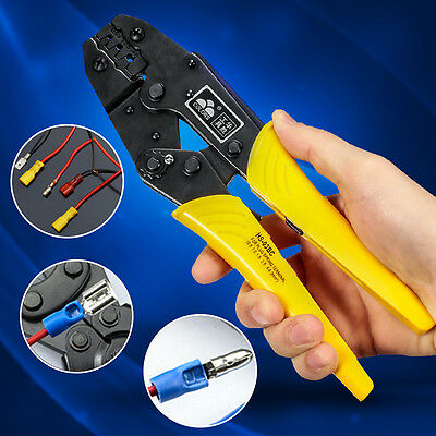 Electrical Ratchet Plug Terminal Crimping Plier 0.5-6mm² Cable Wire Crimper Tool
