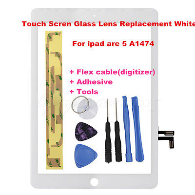 For iPad Air 5 A1474 White Touch Screen Glass Lens Replacement Digitizer OZ