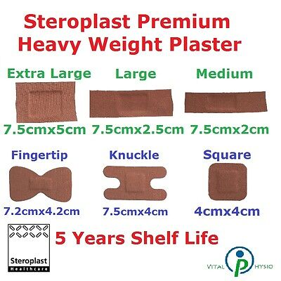 Steroplast Premium Fabric Plaster Elastic First Aid Dressing Cuts Wound Band NHS