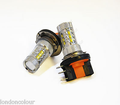 2x H15 XENON SUPER WHITE 10W CREE LED BULBS DAYTIME RUNNING LIGHTS DRL LAMPS