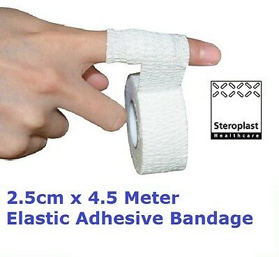 Steroplast 2.5cm x 4.5m EAB Elastic Adhesive Bandage Support First Aid Dressing