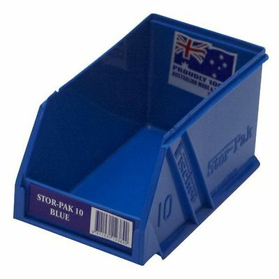 Fischer Stor-Pak STORAGE BIN Spare Parts Screws Strong Durable Plastic Blue-10