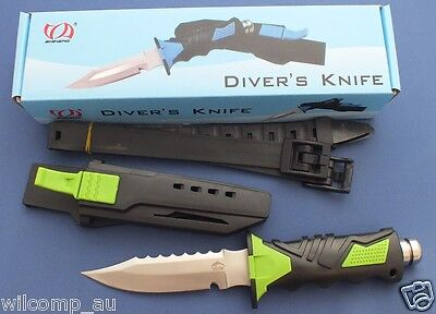 Scuba Diving Hunting Fishing Stainless Steel WILCOMP Knife WIL-DK-06