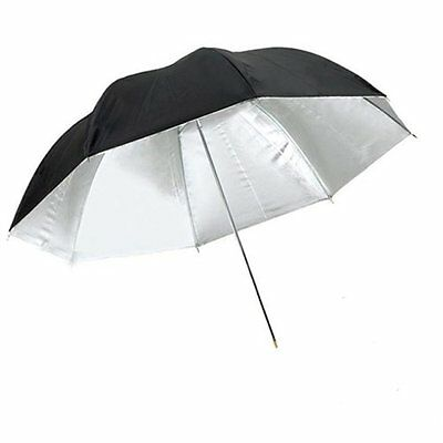 NEW CowboyStudio 43 inch Black and Silver Photo Studio Reflective Umbrella
