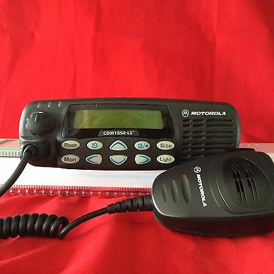 Motorola CDM1550 LS+ UHF Radio 403-470 MHz 40W With Mic And Power Cable