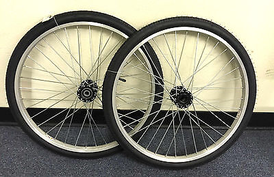 "Tricycle Trike 24"" 36 Spoke Hollow Hub Right & Left Wheel 12G w tires 15mm axle"
