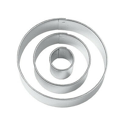 Round Cut Outs Cookie Cutters,Set of 3 DT