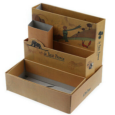 DIY Paper Stationery Cosmetic Desk Organizer Board Fairy Tale Storage Box DT