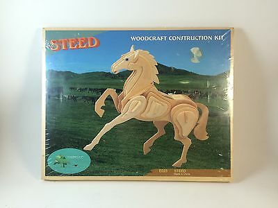 Woodcraft Construction Kit Steed Horse 3D Child Assembly