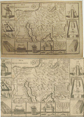 c. 1742 Map The Israelites' Journey in the Desert from Egypt through Jordan