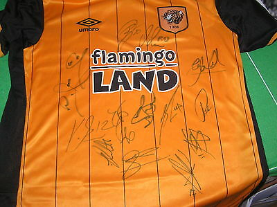 Squad Signed Hull City AFC BNWT 2015/16 Promotion Season Shirt 13 Autographs!