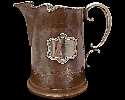 Maxwell & Berlet Beer Pitcher Silver and Copper