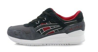 Asics Men's GEL-LYTE III Shoes NEW AUTHENTIC Black/Red H6X2L-9090