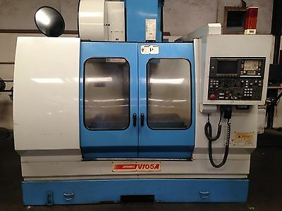 Used YCM Supermax V105A CNC Vertical Machining Center 40x20 Mill CT40 Fanuc 1998