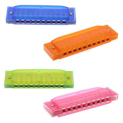 Diatonic Harmonica 10 Holes Blues Harp Mouth Organ Key of C Reed Instrument T1