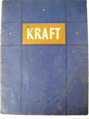 """1939 """"KRAFT"""" Cheese History Booklet w/ Lots of Information & Pictures *"""