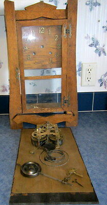 """Antique 20""""T New Haven Clock Co. 8 Day Mantel, Mission, Gong, Clock N0. 50"""