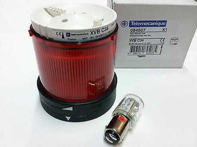 Schneider Electric XVB C34 Harmony Stack Light Red with LED Bulb 24/230V BA15D
