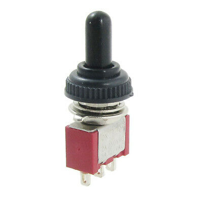 AC 250V 2A 120V 5A on/off/on Momentary SPDT Toggle Switch w/ Waterproof Boot T1