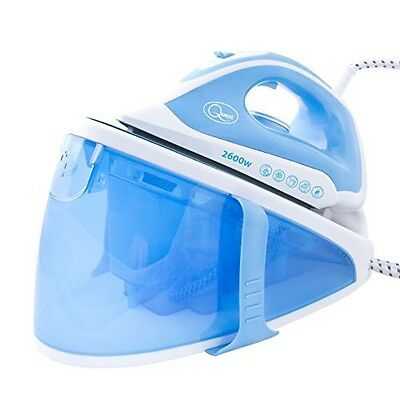 STEAM GENERATOR IRON POWERFUL 2600w STAINLESS STEEL SOLE PLATE QUICK EASY IRONIN