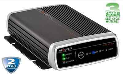 Projecta Dual Purpose Battery Charger Solar AGM Gel Caravan 4 WD Battery Manager