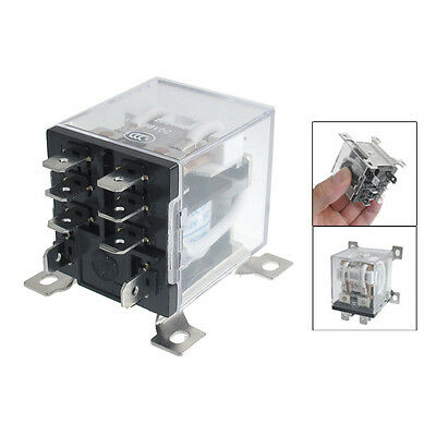 JQX-12F 2Z DC 12V 30A DPDT General Purpose Power Relay 8 Pin T1
